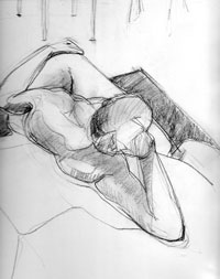 Mischa Merz - Life drawing images
