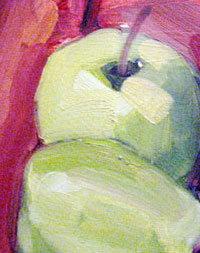 Mischa Merz - Still ife painting images - Still life with apples