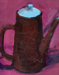 Mischa Merz - Still ife painting images - Still life with coffee pot