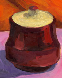 Mischa Merz - Still ife painting images - Still life with pot
