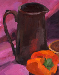 Mischa Merz - Still ife painting images - Still life with purple